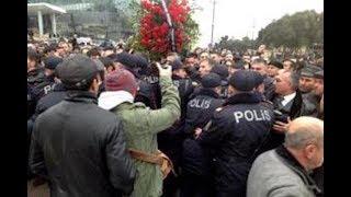 Şəhidlər Xiyabanı səmtində polisin  müqaviməti qırıldı. Hamı 26 yanvar mitinqinə!