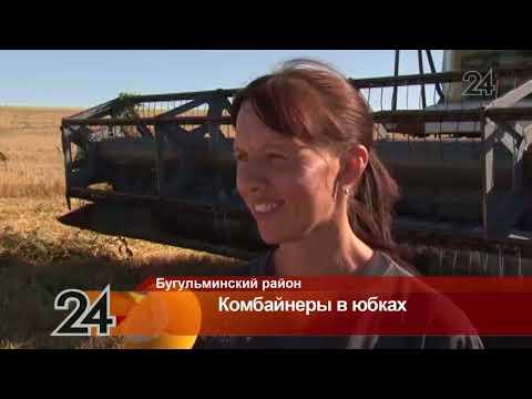 В Альметьевском районе женщины-комбайнеры вступили за борьбу за сто тысяч рублей