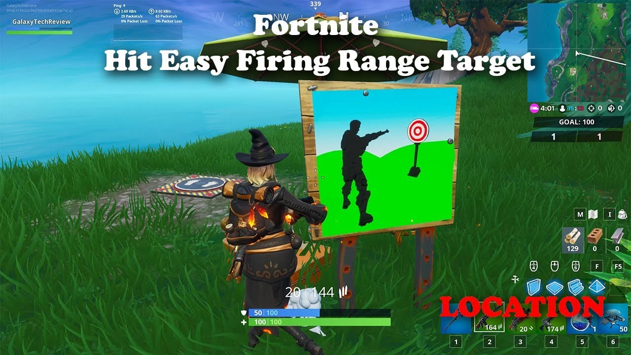 Fortnite Hit Easy Firing Range Target Location