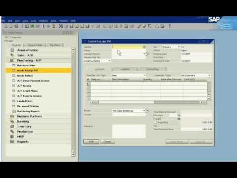Sap Business One Inventory Management Review Youtube