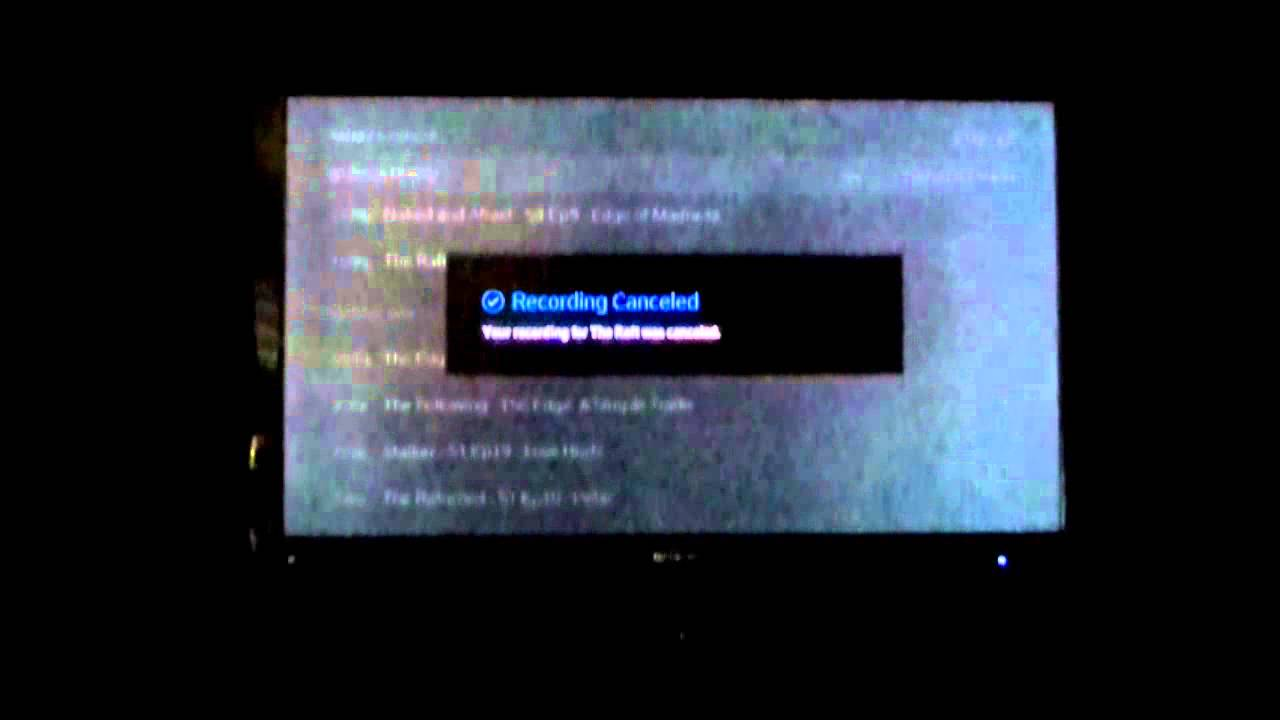 how to cancel pvr recordings