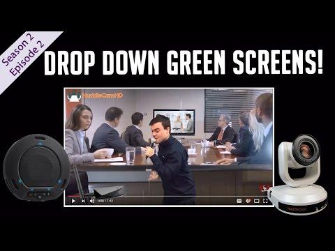 Drop Down Green Screens on HuddleCamHD Live!