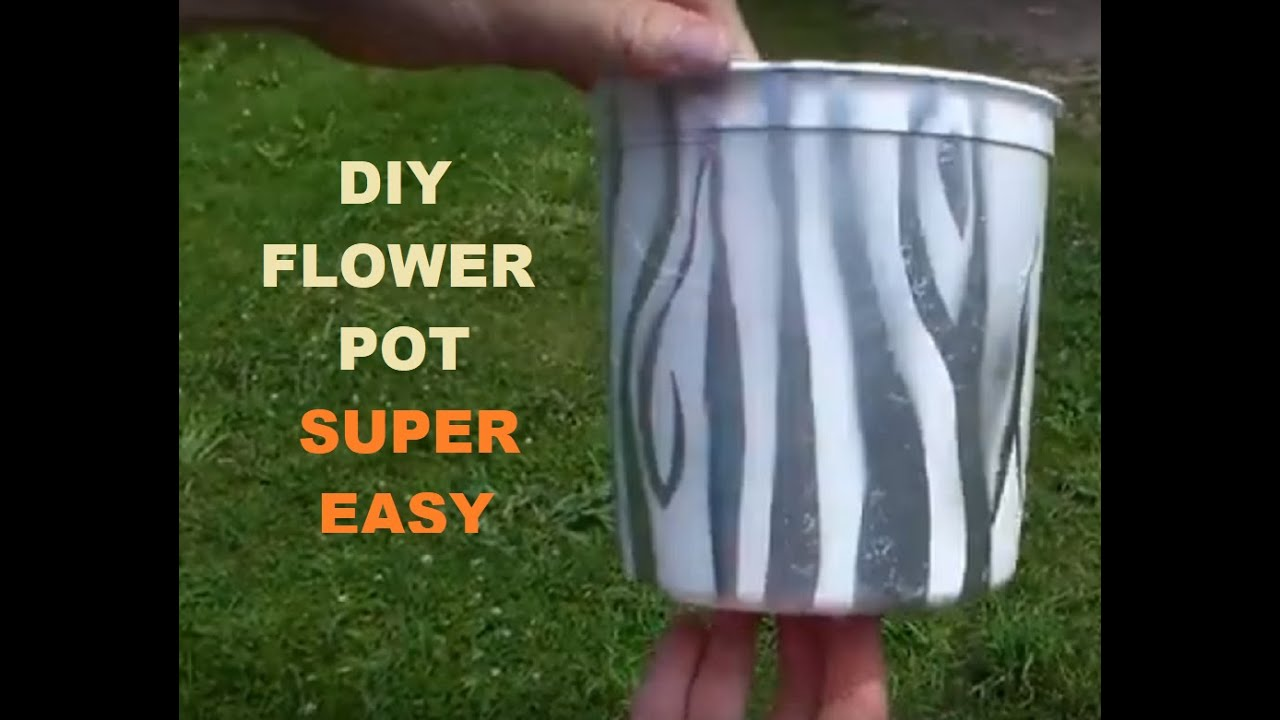 *DIY Flower Pot Ideas [From Plastic Containers]