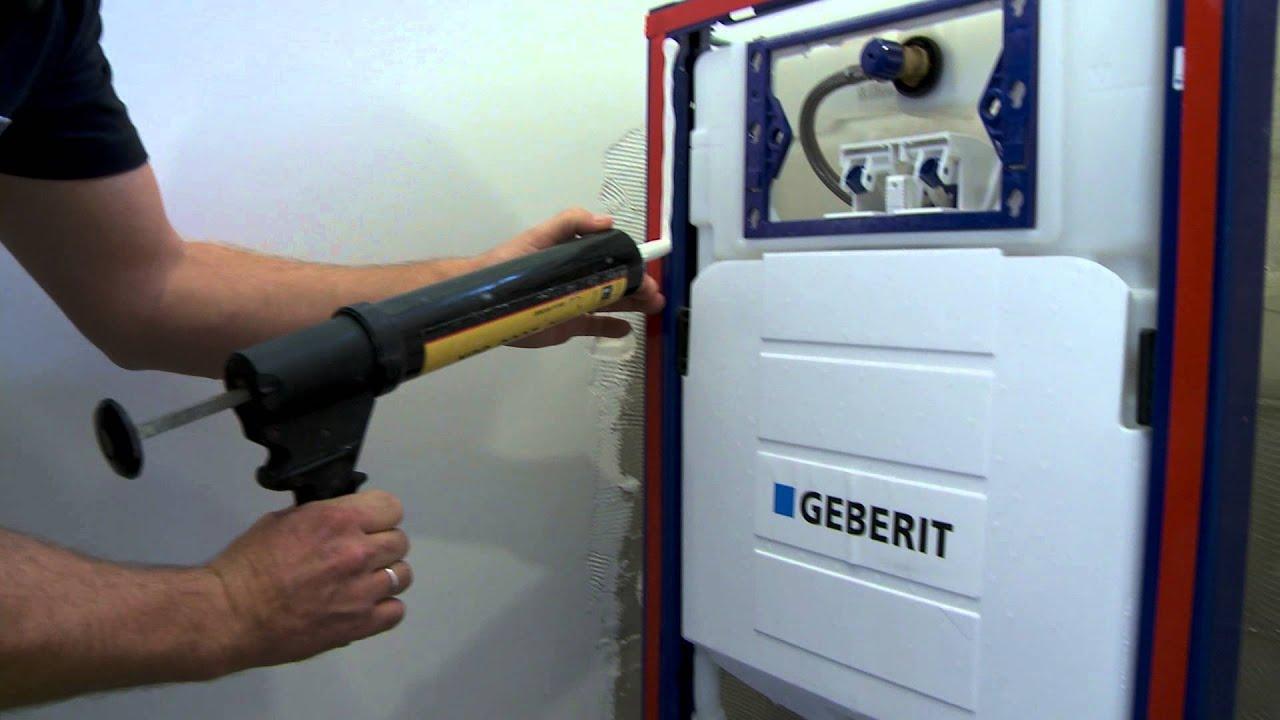 Hoe monteer je glazen wandbekleding voor een inbouwreservoir of toilet youtube - Wandbekleding voor wc ...