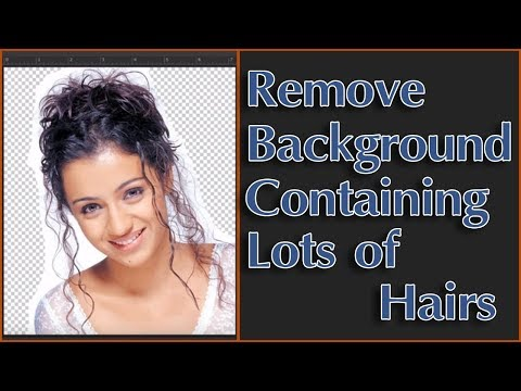 How To Remove Background Containing Lots Of Hairs In Oshop