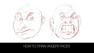 How to draw angry faces DRAWforever