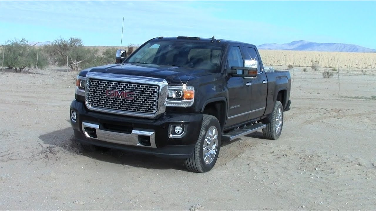 2015 GMC Sierra Denali 2500HD turbodiesel  fuel consumption test