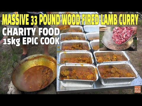 15kg Lamb Curry - Huge Wood Fire Lamb Curry - Lamb Curry - Mutton Masala - Massive Curry