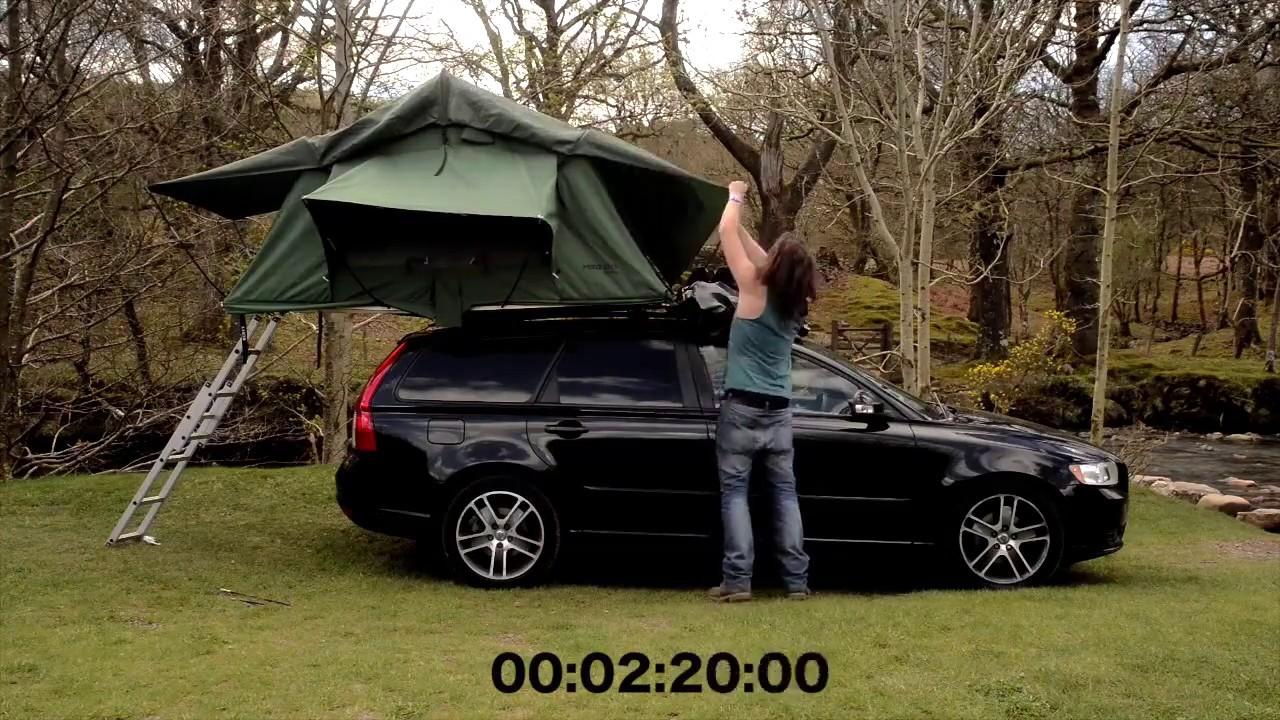 Volvo Xc70 Roof Tent Canvas Roof Tent Youtube Volvo Xc90