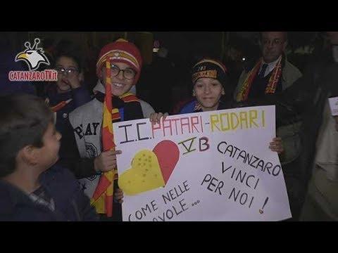 Catanzaro-Andria 0-0: i tifosi giallorossi nel DopoStadio