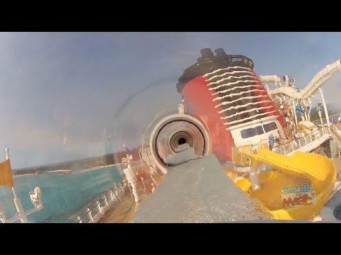 Disney Fantasy AquaDuck POV water coaster at Castaway Cay