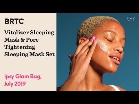 BRTC Vitalizer Sleeping Mask & Pore Tightening Sleeping Mask Set | ipsy Glam Bag July 2019