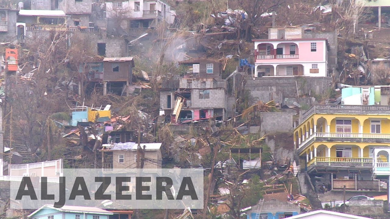 small island of dominica hit hardest by hurricane maria youtube