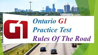 Ontario G1 Practice Test: Rules Of The Road (100 Questions and Answers)
