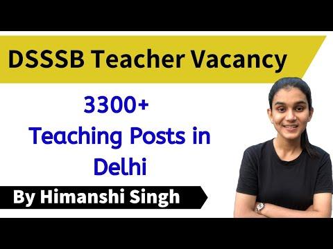3300+ Govt. Teacher Vacancies in Delhi | DSSSB TGT & PGT New Posts Out- Age, Eligibility Criteria