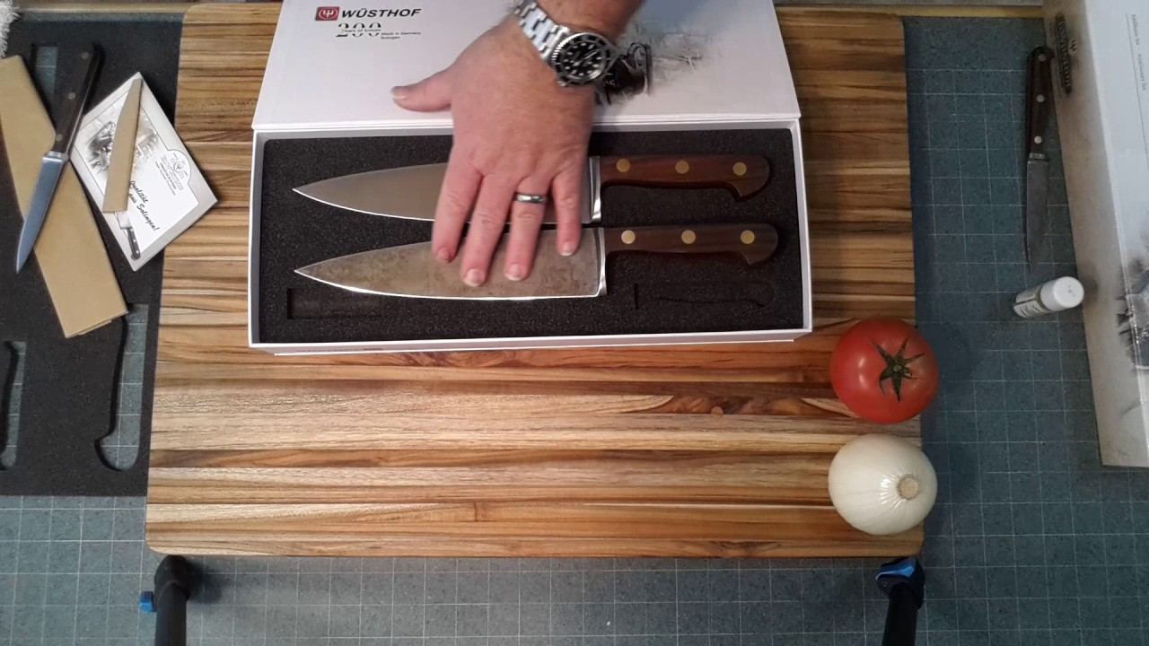 wusthof 200th anniversary knife set review youtube