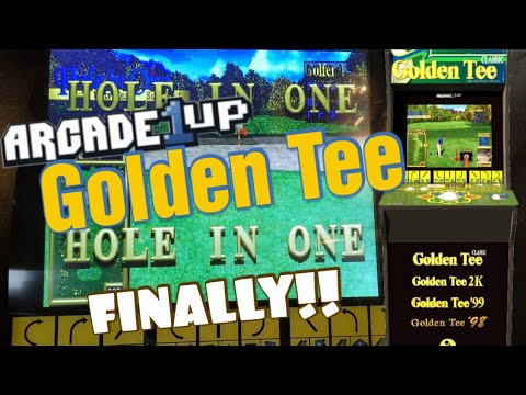 Can you believe it? A Hole in ONE! On Arcade1UP Golden Tee from Detroit Love