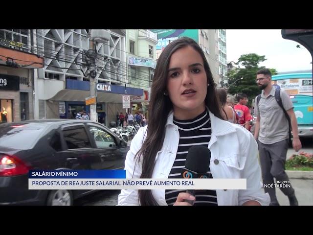 16-04-2019 - PROPOSTA NÃO PREVÊ AUMENTO REAL NO REAJUSTE DO SALÁRIO MÍNIMO - ZOOM TV JORNAL