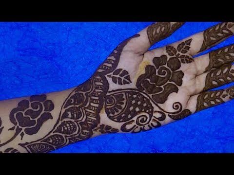 Mehndi Designs | Latest Rose Flower Henna Design | Step By Step Basic Henna Mehndi Design