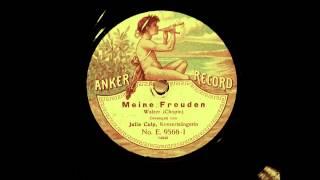 Julia Culp - Juni 1912 - Meine Freuden - Walzer - Frédéric Chopin