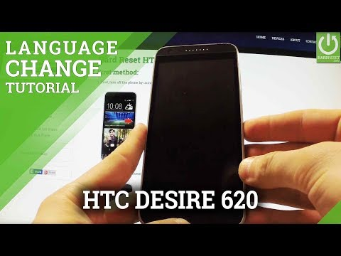 How to Change Language in HTC Desire 620 - Language Settings