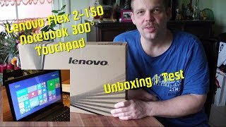 lenovo Flex 2-15D Notebook Test / Unboxing