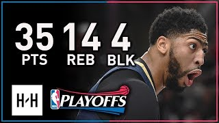 Anthony Davis Full Game 1 Highlights Pelicans vs Blazers 2018 Playoffs - 35 Pts, 14 Reb, 4 Blks