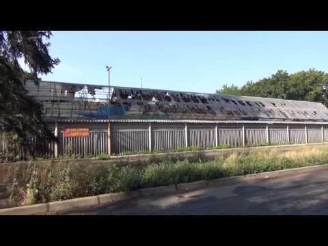 В результате обстрела в Красногоровке пострадал рынок, июль 2014 года