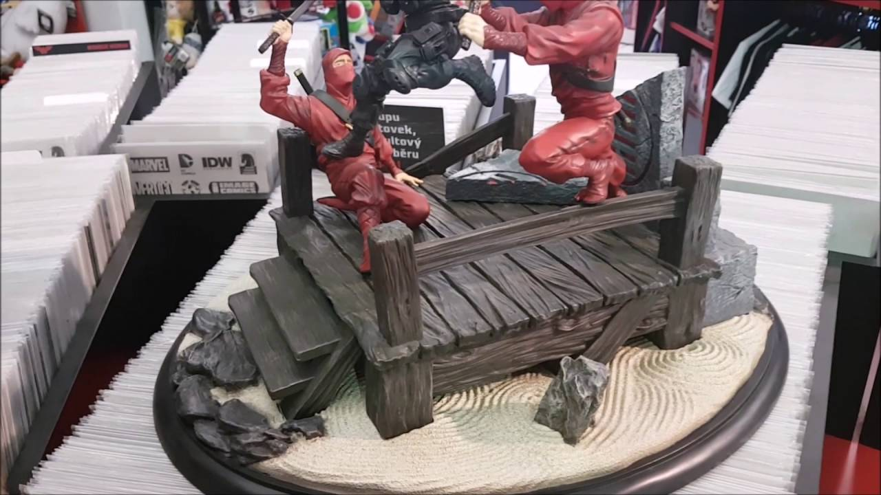 GI Joe Diorama from Sideshow collectible Snake eyes vs Ninjas - RaddTitan