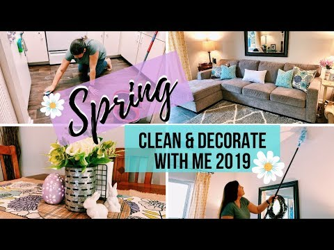 🌺 SPRING CLEAN & DECORATE WITH ME | EASTER & SPRING DECOR | APARTMENT CLEANING