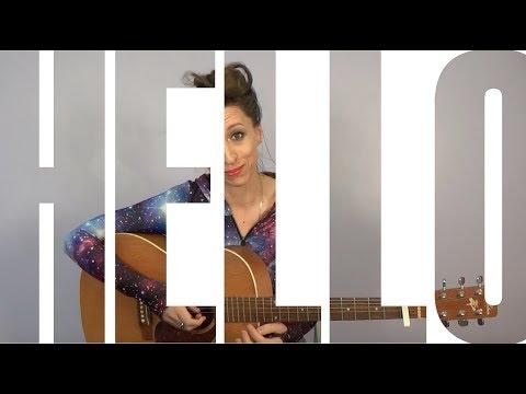Learn How to Play: Hello - Adele - NYC Guitar School Beginner Guitar Tutorial