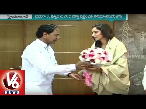 CM KCR Acclaims Sania Mirza For World No 1 In Tennis Doubles Ranking | V6 News
