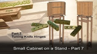 Knife Hinge Pimping  - Small Cabinet On A Stand - Part 7