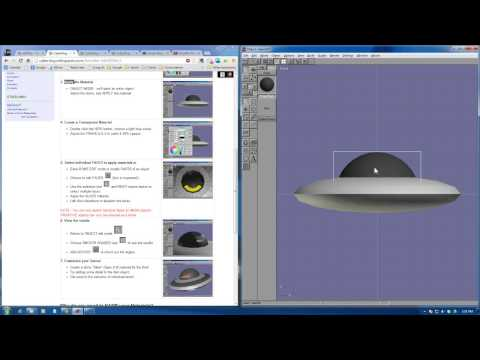 Anim8or Flying Saucer Model Part3: Materials