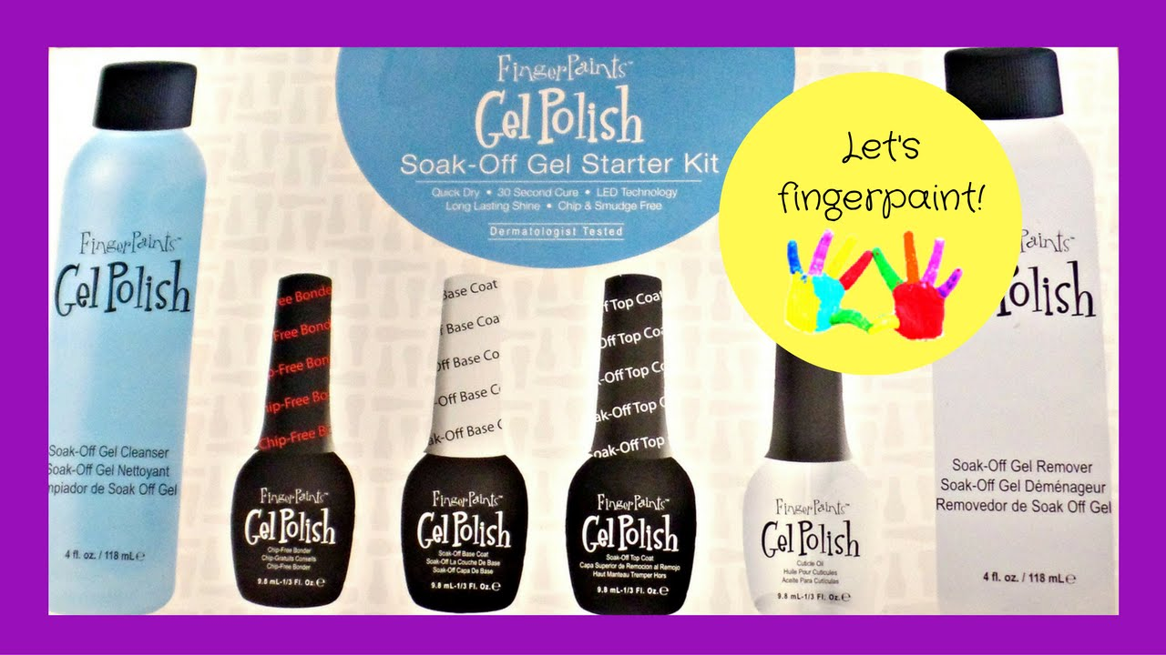 Finger Paints Gel Polish Review and Tutorial (From Sally\'s) - YouTube
