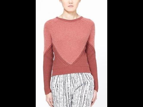 Связать модный пуловер спицами для женщины новые модели