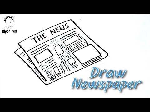 How To Draw Newspaper Easy Youtube