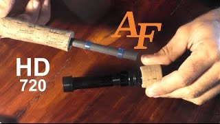 How To Repair A Broken Real Seat. New Reel Seat On A Rod. Andysfishing Fishing Video Big Fish Ep.167