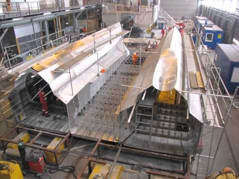 Timelapse - Construction of Hovden - Aquafarming Vessel - Built by Fjellstrand AS