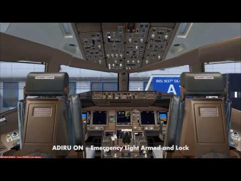 FSX Boeing 777 Cold & Dark Start Up and FMC Preparation