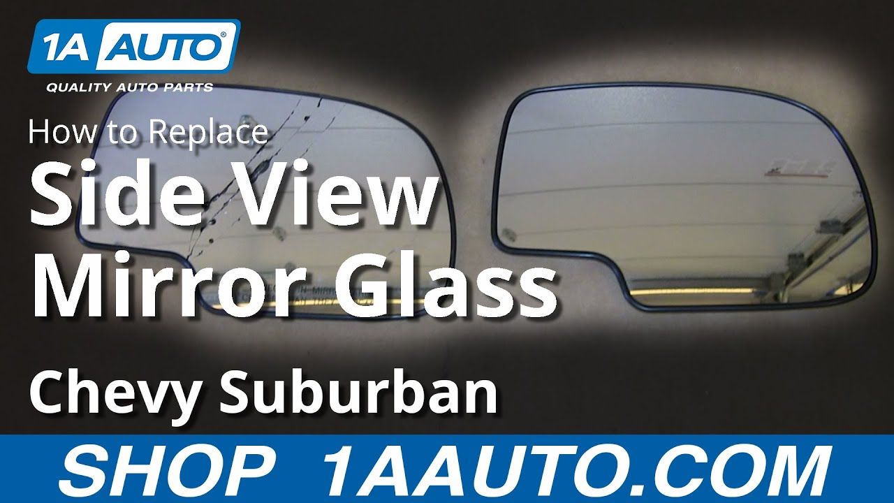 how to replace mirror glass 99 06 chevy suburban 1500 [ 1280 x 720 Pixel ]