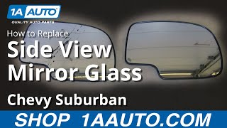 How To Install Fix Broken Mirror Glass 2000-06 Chevy SIlverado Suburban Tahoe