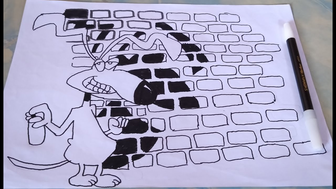 Grafiti Kartun Hitam Putih Sobgrafiti Youtube