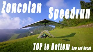 Zoncolan Speedrun / Top to Bottom / #Hanggliding