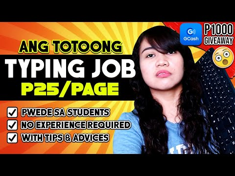 P25/page: TYPING JOBS 2020 | NO EXPERIENCE \u0026 Pwede Sa STUDENTS | +P1000 GCASH GIVEAWAY: JOIN NOW!