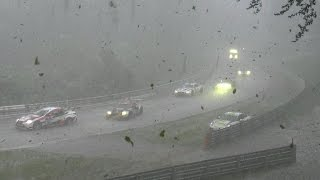 24h Nürburgring Nordschleife Chaos Crash & Red Flag snow rain and ice