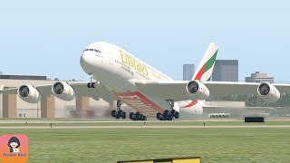 Airbus A380 Got TailStrike When Takeoff During Heavy Wind (HD) || X-Plane 11