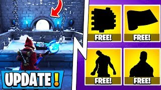 *NEW* Fortnite Update! | 6 Free Gifts, Earthquake Event, Secret Map Changes!