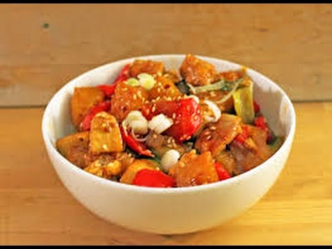 Sweet and Sour Tofu   CHINESE RECIPES   QUICK RECIPES