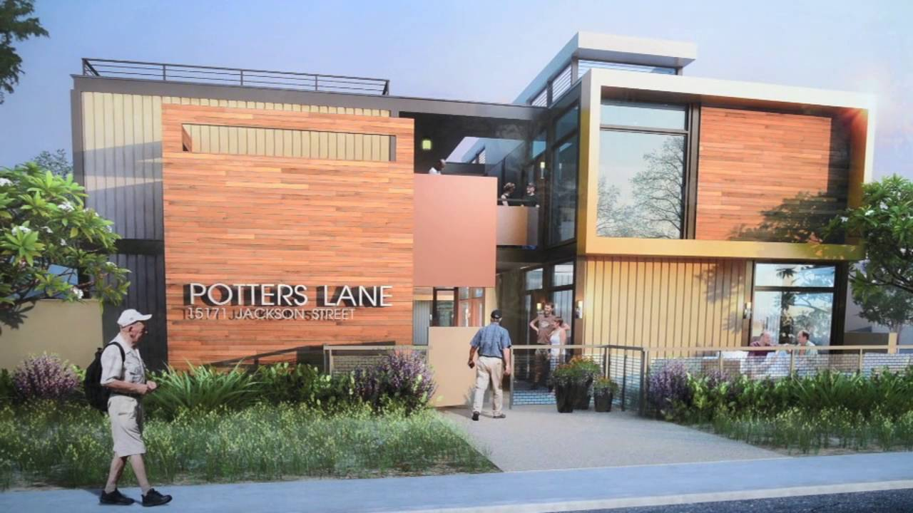 Recycled shipping containers to house homeless vets unveiled - YouTube